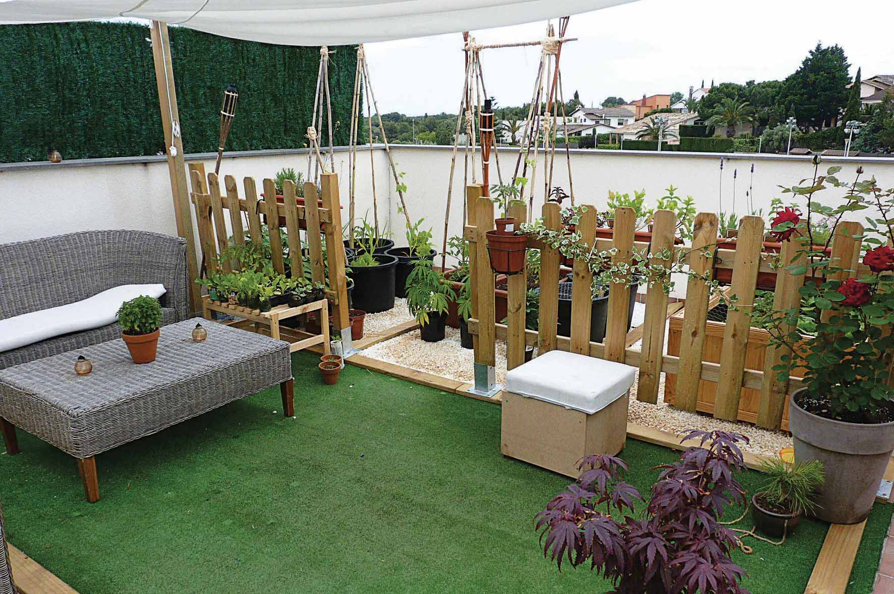 Roof Garden pasto artificial