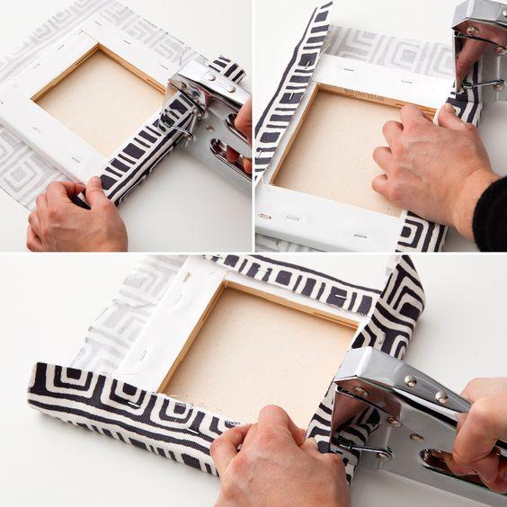 ideas para cuadros decorativos retazos de tela