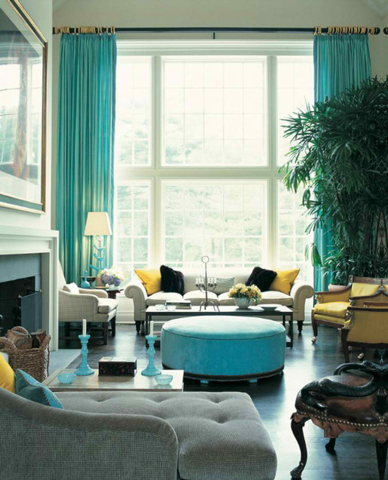 Turquoise-And-Yellow-Living-Room
