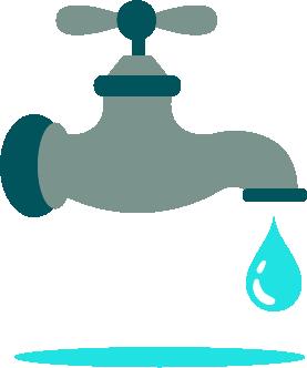 cuidado del agua grifo