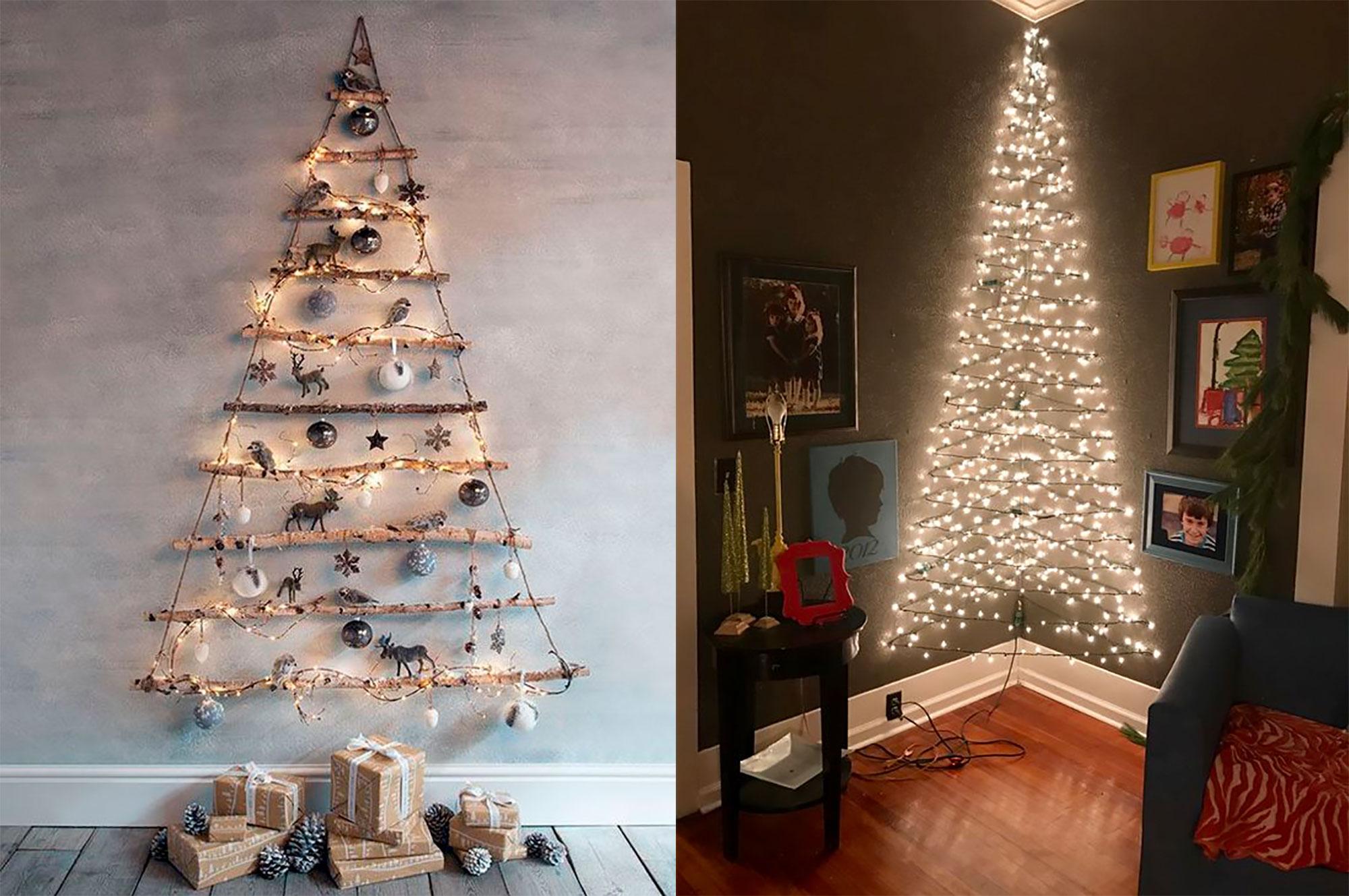 Ideas Originales Para Hacer Un árbol De Navidad En La Pared