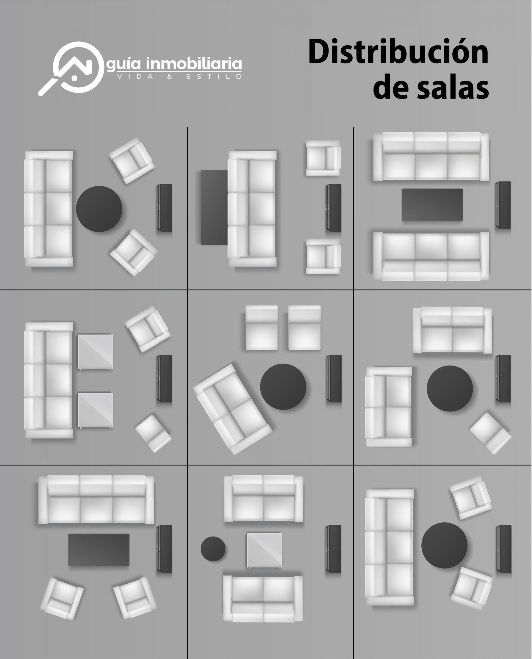 Plano de distribución de salas pequeñas