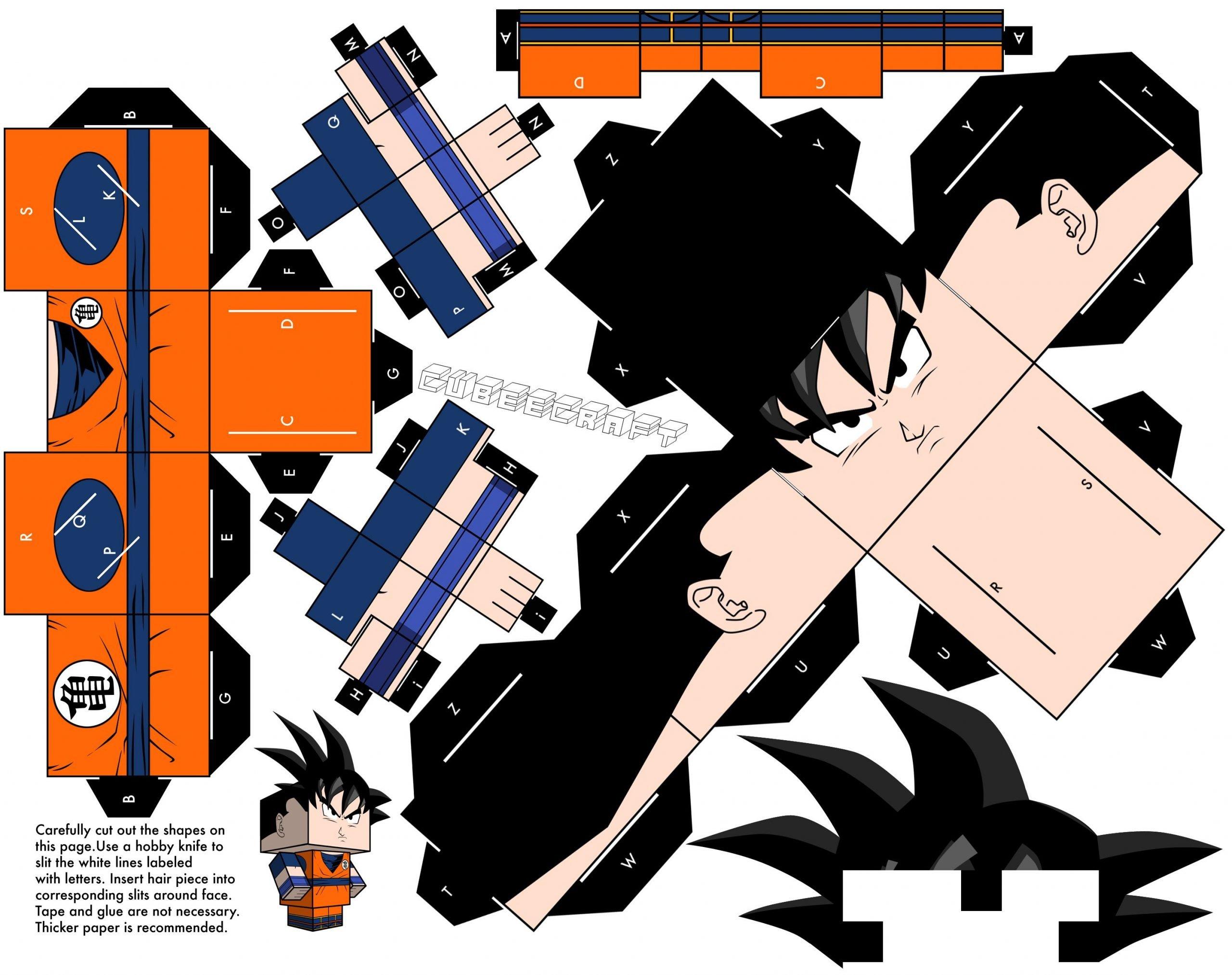 Paper-Toy Goku