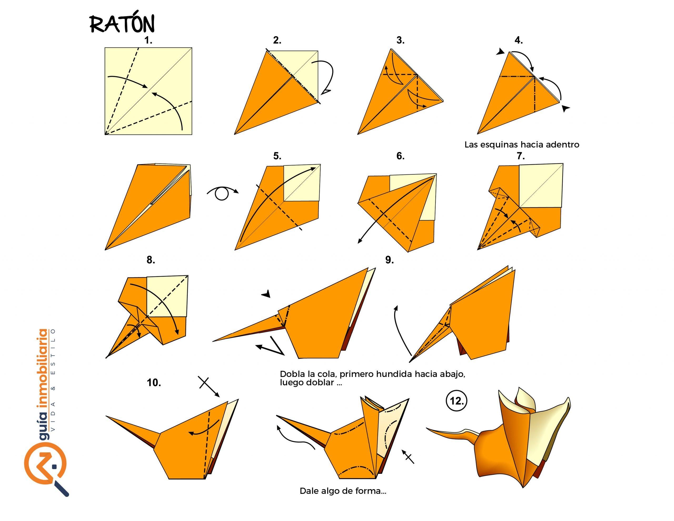 origami paso a paso ratón