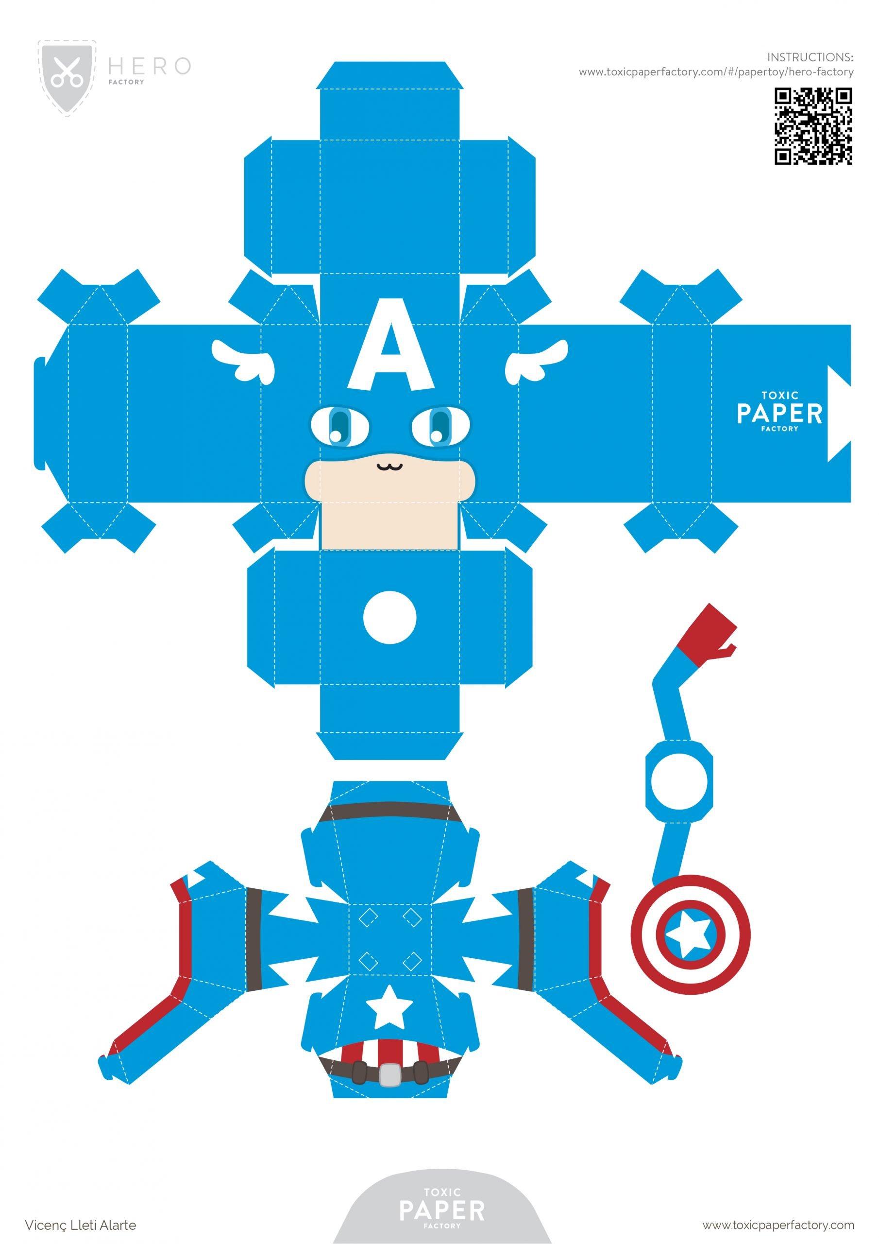 Paper-Toy Capitan America