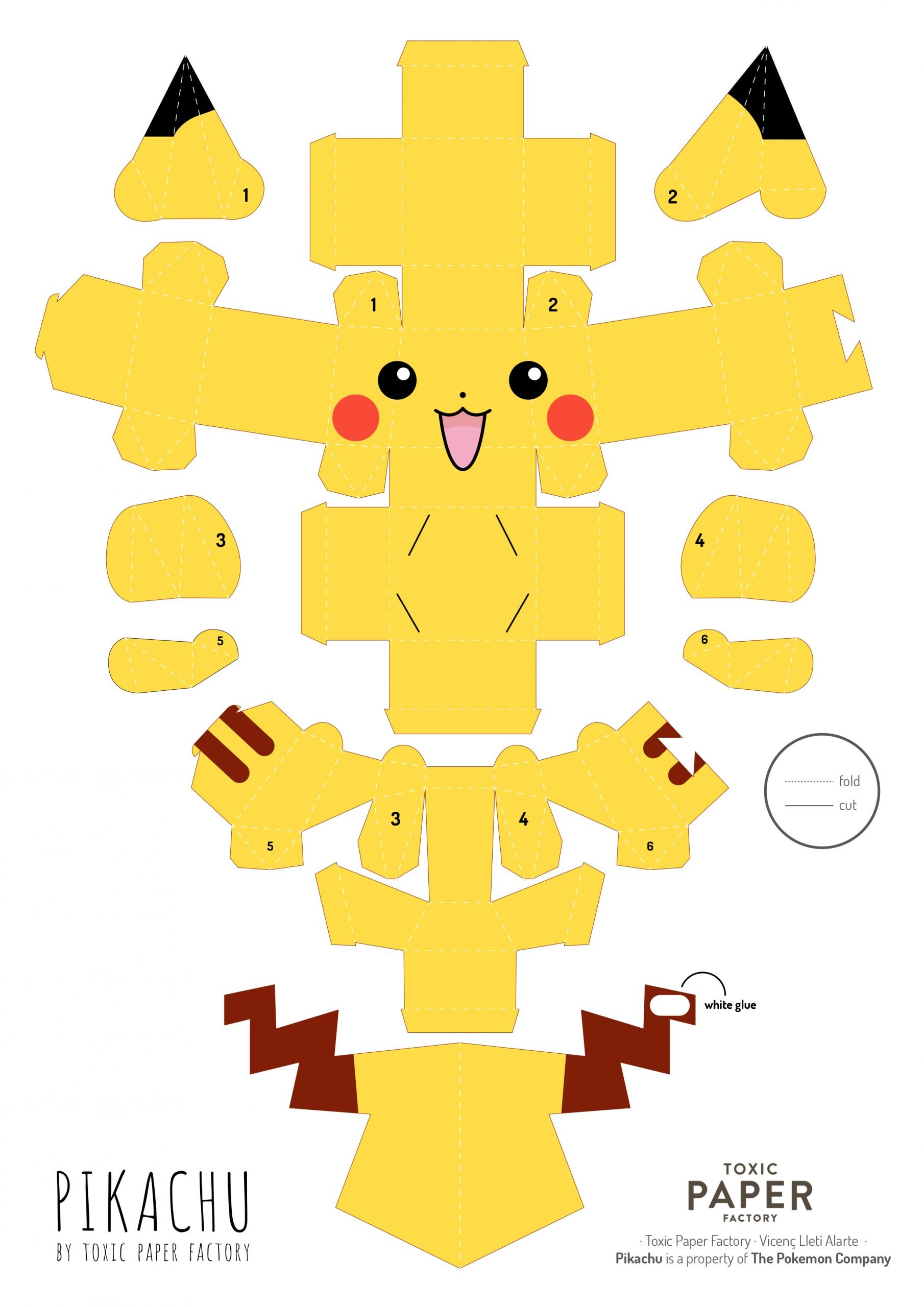 Paper-Toy Picachu